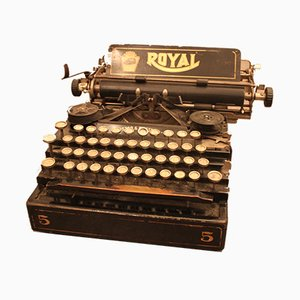 Antique Model Royal No. 5 Typewriter by from Frister & Rossmann