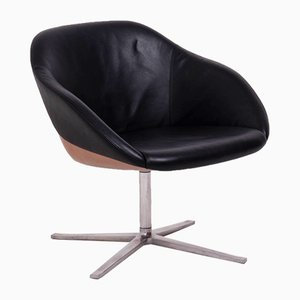 Black Leather Lounge Chair by Pearson Lloyd for Walter Knoll / Wilhelm Knoll, 1990s