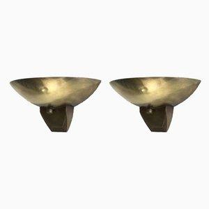 Bauhaus Brass Sconces, Set of 2