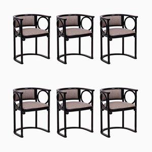 Esszimmerstühle aus Bugholz von Josef Hoffmann für Wittmann, 1980er, 6er Set