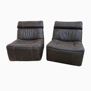 Leather Easy Chairs from Rolf Benz, 1970s, Set of 2