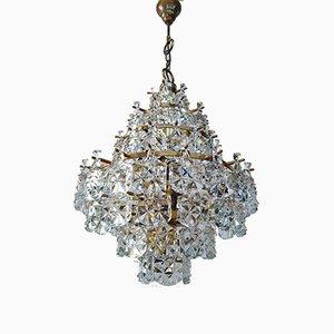Mid-Century Glass Ceiling Lamp from Kinkeldey