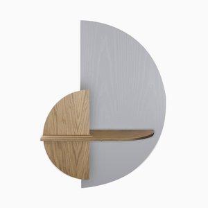Halbkreisförmiges Alba M Wandregal von Daniel García Sánchez für Woodendot