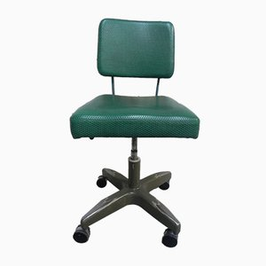 Belgian Green Swivel Chair, 1950s