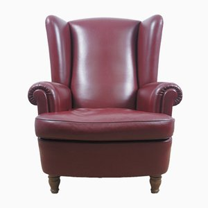 Vintage Burgundy Leather Model Dionisio Armchair from Poltrona Frau, 1920s