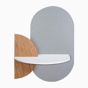 Table de Chevet Ovale Alba L par Daniel García Sánchez pour Woodendot