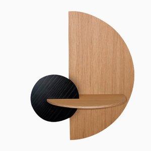 Alba L Semi Circle Nachttisch von Daniel García Sánchez für Woodendot