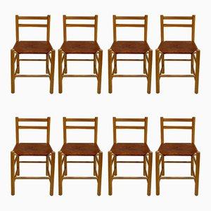 Skandinavische Esszimmerstühle, 1960er, 8er Set