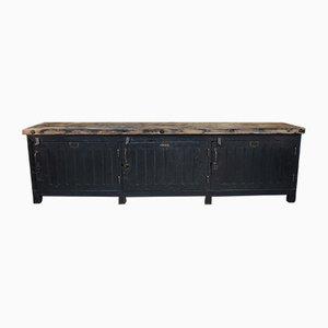 Vintage Industrial Pinewood Sideboard, 1930s