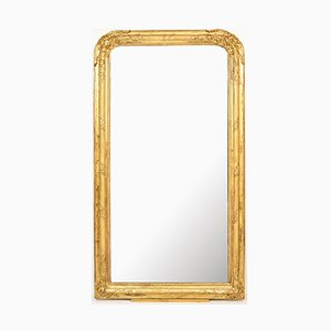 Espejo de pared dorado, siglo XIX