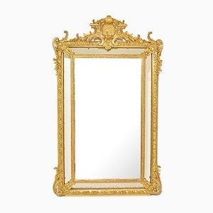 Antique French Rectangular Giltwood-Framed Mirror