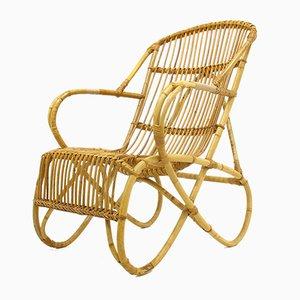 Rattan Lounge Chair, 1970s