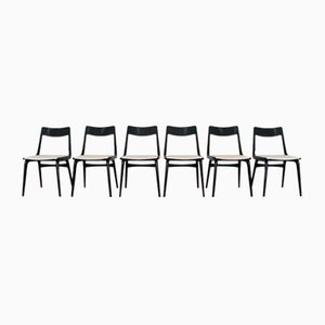 Mid-Century Danish Model Boomerang Dining Chairs by Alfred Christensen for Slagelse Mobelvaerk, Set of 6