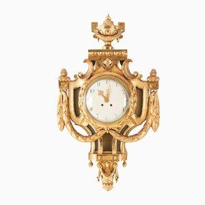 Reloj de pared gustaviano antiguo