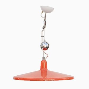 Large Mid-Century Orange Model Manta Ceiling Lamp by Franco Bresciani for Guzzini, 1970s