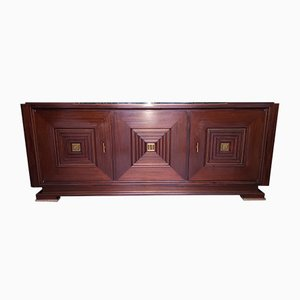 Vintage Mahogany and Bronze Sideboard