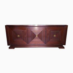 Vintage Sideboard aus Mahagoni & Bronze