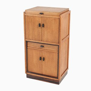 Art Deco Oak Cabinet, 1920s