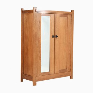 Art Deco Oak Wardrobe by Hendrik Wouda for H. Pander & Zn., 1900s