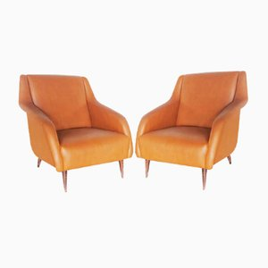 Mid-Century Lounge Chairs by Carlo de Carli, Set of 2