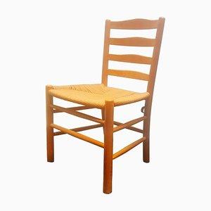 Vintage Beech and Papercord Model Kirkestol Dining Chair by Kaare Klint for Fritz Hansen