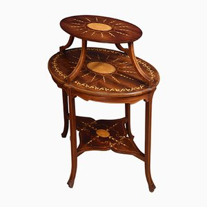 Antique Inlaid Mahogany Etagere