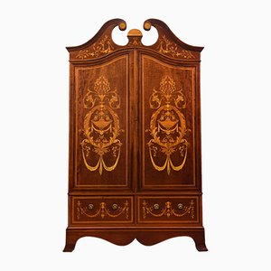 19th Century Inlaid Mahogany Wardrobe