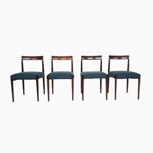 Deutsche Esszimmerstühle aus Palisander von Lübke, 1960er, 4er Set