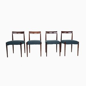 German Rosewood Dining Chairs from Lübke, 1960s, Set of 4