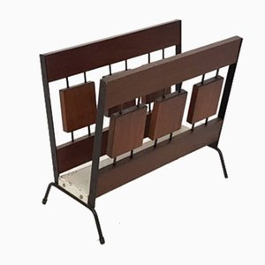 Teak and Metal Magazine Rack from Brovorm, 1960s