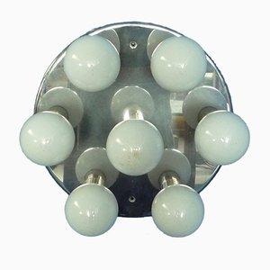 Lámpara de techo cromada, años 70