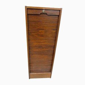 Vintage Beech Tambour Cabinet, 1980s