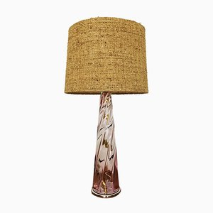Lampada da tavolo in vetro di Murano, Italia, anni '60