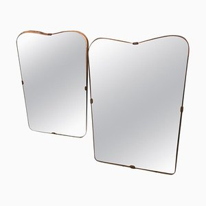 Mid-Century Italian Mirrors, 1950s, Set of 2