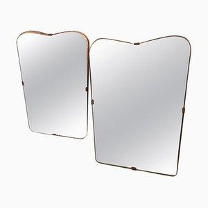 Mid-Century Italian Mirrors, 1950s, Set of 2
