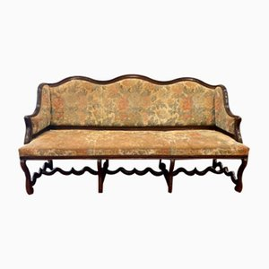 Large Antique Louis XVIII Walnut Sofa