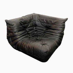 Leather Togo Corner Sofa by Michel Ducaroy for Roset Lignet, 1980s