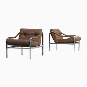 Model Beta Lounge Chairs by Tim Bates for Pieff, 1970s, Set of 2