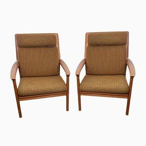 Danish Teak Lounge Chairs by Grete Jalke, 1950s, Set of 2