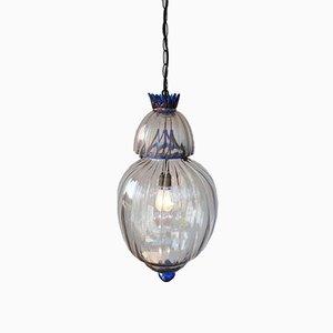 Grande Lanterne Art Déco en Verre de Murano