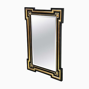 Antique French Gilt and Ebonized Wall Mirror, 1860s