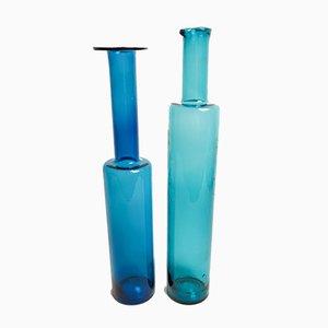 Finnische Flaschen aus Kunstglas von Nanny Still für Riihimaki / Riihimaen Lasi Oy, 1960er, 2er Set