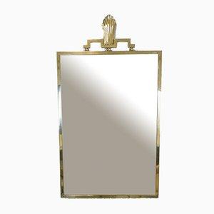 Espejo sueco de latón de Lars Holmström, años 30