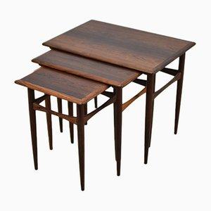 Tavolini ad incastro in palissandro di Arne Hovmand-Olsen, Danimarca, anni '60