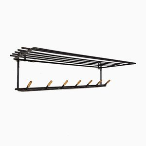 Mid-century Dutch Black Metal Coat Rack, 1960s