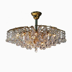 Large Mid-Century Crystal Chandelier from Swarovski