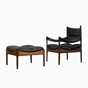 Dänische Modell Modus Sitzgruppe aus Palisander von Kristian Vedel für Søren Willadsen Møbelfabrik, 1960er, 4er Set