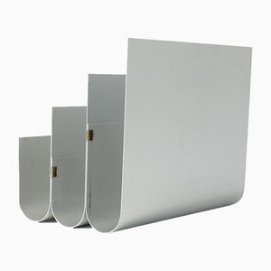 Portariviste in alluminio di Pierre Vandel per Espace Pierre Cardin, anni '70