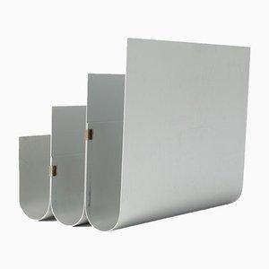 Porte-Revues en Aluminium par Pierre Vandel pour Espace Pierre Cardin, 1970s