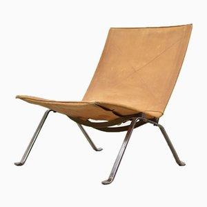 Dänischer Modell PK22 Stuhl von Poul Kjærholm für E. Kold Christensen, 1950er